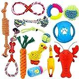 Juguetes para Perro,Grupo de Juguetes para Perros,Cuerda para Masticar,Durable Juguete para Morder para Perro,Herramientas de Entrenamiento,100% Algodón - 13 Piezas