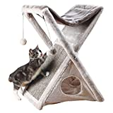 Trixie Pet Productos Miguel Plegar y Guardar Cat Torre