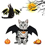 Alas para Mascotas de Halloween, Disfraz de Murciélago para Gatos, Ajustable Ropa de Murciélago del Mascotas, Cosplay de Murciélagos de Moda para Gatos y Perros