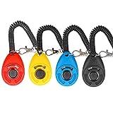 Diyife Clicker para Adiestramiento Perro, 4 Piezas, Multicolor con Correa para la Muñeca para Perro Gato Caballo