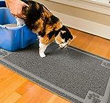 CleanHouse Premium alfombrilla para arena de gato, libre de ftalatos, extragrande, 36 x 24 pulgadas, alfombrilla para gatos que detiene todo el seguimiento de la arena de los gatos y la dispersión de la caja de arena para gatos