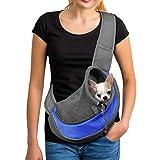 YUDODO Sling Pet Carrier, Bolsa de Viaje de Malla Reversible para Perros y Gatos