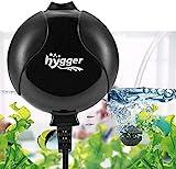 hygger 1.5W Mini Bomba Aire per 1L-50L Acuario, Silencioso Oxigenador Pecera with Accesorios (Negro)