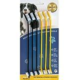 Pet Republique Juego de cepillos de dientes para gatos y perros de 3/6, cepillos de higiene dental de dos cabezas para perros pequeños y grandes, (juego de 6 de dos cabezas)