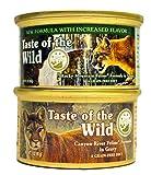 Taste of the Wild Cat Food Variety Pack Box – 2 sabores (felina de montaña con salmón y fórmula de Veneno tostado y fórmula de sedán y canyon River Feline Trout y Salmon) – 3 oz cada uno (6 de cada sabor)