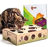 Cat increíble–Mejor Interactivo Gato Juguete Nunca. Treat Maze & Puzzle comedero para Gatos