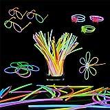 Bramble 543 Pack de Barras Luminosas - 250 Varitas Luminosas, 293 Conectores   Multicolor Fluorescentes Glow Sticks