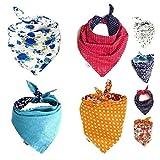 FUNPET 4 baberos triangulares para perros, bufandas de colores brillantes, accesorios para mascotas, gatos y cachorros