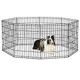 New World Pet Products B552-30 - Jarra Plegable para Mascotas, Color Negro, tamaño Mediano, 60,96 x 76,2 cm