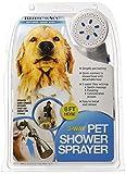Rinse Ace - Pulverizador de Ducha para Mascotas de 3 vías con Manguera de 8 pies y conexión rápida a la alcachofa de Ducha
