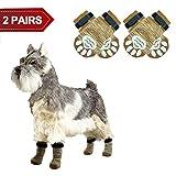 PUPTECK Calcetines antideslizantes para perros, protección de huellas de mascotas para uso en interiores