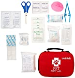 Labra Kit de primeros auxilios para mascotas (rojo, estándar)
