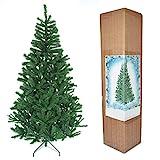 SHATCHI Alaskan Pine Green Árbol de Navidad Artificial de Pino Verde de Alaska, 390 Puntas con Soporte de Metal, 150 cm, Plástico, 1,52 m