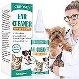 Limpiador de Oidos para Perros,Limpiador Oidos para Perros y Gatos,Dog Ear Cleaner,Solución de infección limpiador de oídos para perros, gatos, detener la picazón, los ácaros del olor eliminar