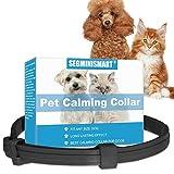 SEGMINISMART Collar calmante para Perros,Collar calmante para Gatos,Ajustable, Alivia la ansiedad, feromona, Collar calmante Natural de Larga duración