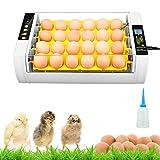 KKTECT Incubadora de Huevos 24 Huevos Automático con Giro de 45 Incubadora Digital Luces LED Pantalla LCD Ajuste de Temperatura 0-100 ℃ Observación de Humedad por Huevos de Pollo Aves de Corral