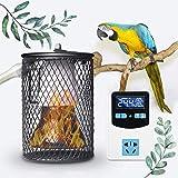 WSZYBAY Pantalla De Lámpara De Calor De Seguridad del Reptil con Termostato Anti-escaldado Cuadrícula Digital Y Anti-mordedura Tubo De Hierro para Mascotas Coop Conjunto De Calefacción De Pollo 100W