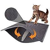 Pieviev Cat Litter Mat Double-Layer Honeycomb -XL Tamaño (30.1'× 23.6'), Litter-Trapping, Super Suave, Light EVA Material
