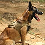 EXCELLENT ELITE SPANKER Excelente arnés de Nailon elástico para Perros táctico K9 con asa para Entrenamiento de Patrulla Militar