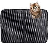 Estera de Arena para Gatos,Alfombra de arena para gatos Impermeable cat litter mat Arenero gatos grande plegable,con Diseño de panal de doble capa