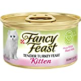 Purina Fancy Feast Fancy Feast Wet Cat Food, Kitten, Tender Turkey Feast, 3-Ounce Can, Pack of 24 by