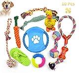 DONGQI Grupo de Juguetes para Perros Durable Masticable Cuerda Soledad Grupo de Juguete para Perrito Pequeño Medio Solitario para Mantener a su Perro Sano 10 Piezas
