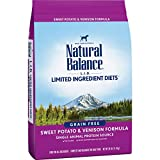 Natural de baño Lid Sweet Potato and Venison Formula grano Free Dry Dog Food 26LBS