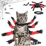 Disfraz De Halloween del Gatos Perros,Disfraz para Perro De Halloween,Mascota araña Ropa,Disfraz de Araña para Halloween,Disfraces Divertidos de Halloween para Mascotas (Rojo)