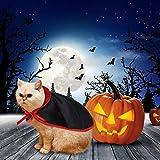 Idepet disfraz de Halloween para perro, disfraz de alas, sombrero de pulpo morado, cuernos de diablo, sombrero, cono, sombrero, lazo, perros, gatos, accesorio para el pelo para cachorro