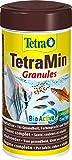 Tetra TetraMin Granules - Alimento para peces en forma de gránulos finos para todos los peces ornamentales de agua dulce, 250 ml