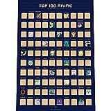 Enno Vatti Póster para Rascar con 100 Animes - Lista de Deseos con la Mejor Animación Japonesa de Todos los Tiempos (42 x 59,4 cm)