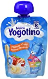Nestlé Iogolino - Alimento infantil Puré de Plátano y Fresa - 90 gr - [Pack de 8]