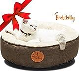 HACHIKITTY Cama para Perros, Lavable, extraíble, tamaño pequeño, Mediano, Redonda, Impermeable, Resistente a mordiscos, para Perros medianos