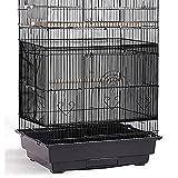 Cubierta Ajustable de Jaula de Pájaros Colector de Plumas Semillas Malla Red Nylon Universal de Jaula Pájaros Protector Falda Suave Aireado para Jaulas Cuadradas Redondas (Negro)