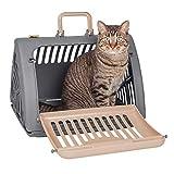 SportPet Designs - Portabotellas de plástico Plegable para Gato