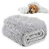 MMTX Esponjosas Felpa Mantas para Camas para Perros Gatos Colchón Doble Lado Mantas Mascotas Suave y Linda Cálido Manta Lavable Gatos y Perros para Cama de Perro Sofá y Vehículos Gris