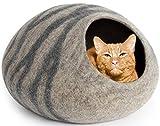 MEOWFIA - Cama para Gatos (tamaño Grande), respetuosa con el Medio Ambiente, 100% Lana Merina, para Gatos y Gatitos