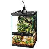 Zilla Tropical Reptile - Kit de iniciación Vertical con Mini iluminación halógena