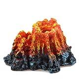 Netspower Volcan Acuario, Acuario de Peces Tanque Decoración Accesorios, Adorno para Acuario de Cueva de Forma de Volcán, Piedra de Burbuja para Peceras, Ornamento Decoración de Pecera Acuario