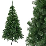 Arcoiris Árbol de Navidad Artificial Acebo, Natural Verde, Material PVC, Soporte deMetal (120CM, Arbol Navidad)