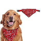 Sunshine smile Bandana Perro de Navidad,Pañuelo de Cabeza para Mascotas,Pañuelo de Navidad de Perro, Disfraz para Mascota, Pañuelo para Perro Navidad, Baberos para Mascotas (M, Rojo)