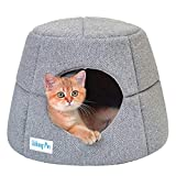 Ushang Pet Premium 2 en 1 cama cubierta para gatos de interior – sofá pequeño lavable para mascotas pequeño gato condominio mascota iglú casa cueva para hámster ardilla pequeño animal