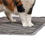 Gorilla Grip tapete de arena para gatos, duradero, XL, sin ftalatos, resistente al agua, atrapa la arena de la caja y los gatos, control de dispersión, alfombrillas suaves para patas de gato, fácil de limpiar