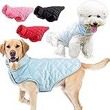 Etechydra - Chaleco para perro de invierno cálido para perro, ropa de forro polar suave, ligera y acogedora, para perros pequeños, medianos y grandes, azul M