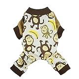 Fitwarm - Pijamas de algodón para perros y otras mascotas, diseño adorable, color marrón