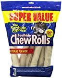 The Rawhide Express Natural Value Pack Rolls Dog Chew, 9 by 10-Inch, by The Rawhide Express
