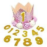 PET SHOW - Gorro de cumpleaños para Mascotas, diseño de Corona de Perro para Fiesta de cumpleaños, Gato, Diadema con 1 – 9 Figuras, Accesorios de Aseo (1 Unidad)