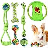 ACE2ACE Juguetes Cuerda para Perros Pequeños/Cachorros, 6pcs Cuerda de Juego con Bolas, Juguete Masticable de Cuerda para Perros Pequeños, Juguetes para Masticar de algodón para Mantener a Perro Sano