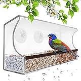 Comederos para pájaros con ventana, color gris de Gray Bunny