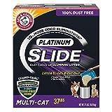 Platinum SLIDE Arena para gatos fácil de limpiar, multigato, 37 libras